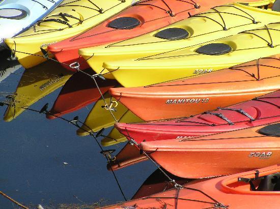 Sally Webster Inn: Reflecting on kayaks