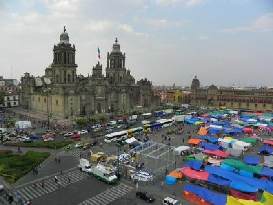 Zocalo: View from the rooftop terrace of the Majestic Hotel