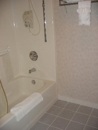 Quality Inn: Large immaculate bathrooms