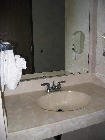 Quality Inn: A second sink area if bathroom is occupied