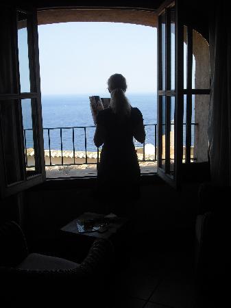Bañalbufar, España: Ausblick aus dem Zimmer Sun