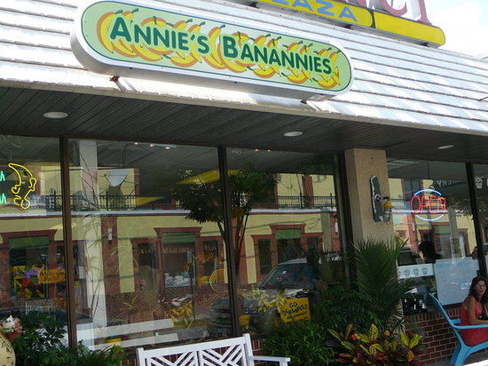 Exterior of Annie's Banannies