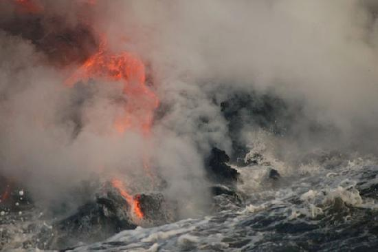 lava as seen from lava boat tour