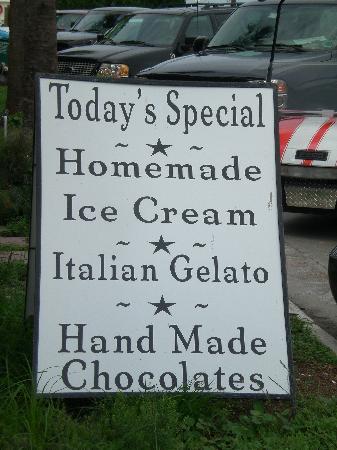 Apalachicola Chocalate Company: gelato