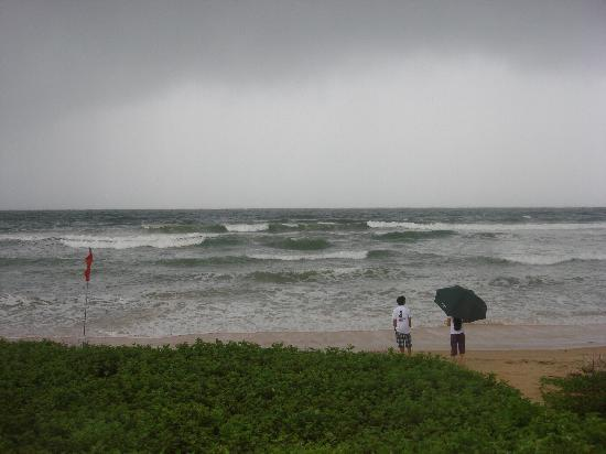 Taj Exotica Goa: the beach during high tides and rains