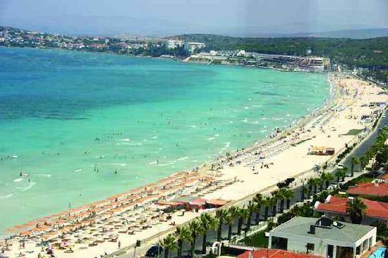 Alacati, Turquía: Ilica beach at Cesme town