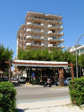 Hotel La Perla Preziosa: Albero visto dalla spiaggia (solo i primi 2 piani)