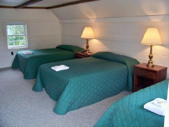 Mount Whittier Motel: Loft room with 2 Full beds and a twin