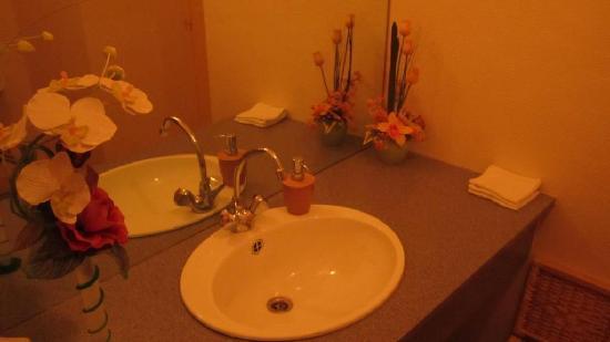 Quettehou, France: Washroom - classy