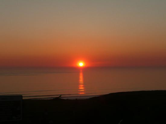 Widemouth Manor: one of the sunsets we happened to see, what  a moment that was