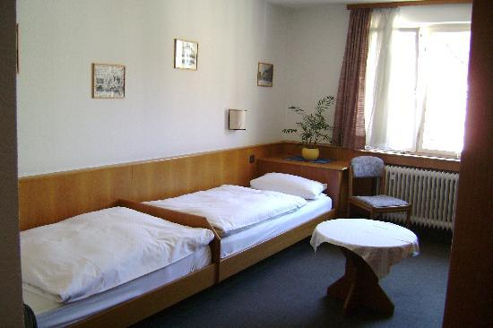 Hotel Schillerhof: twin bed set-up for our room
