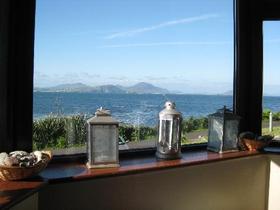 Sandrock Holiday Hostel: view from common room window