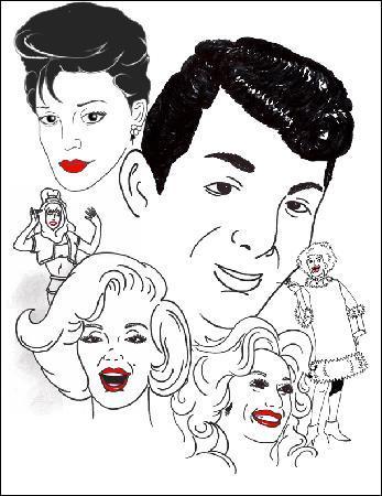 Dino's TV Variety Show: Dino's Caricatures