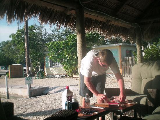 Little Conch Key: tiki hut