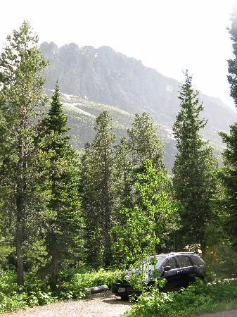 Campsite (no. 64) at Many Glacier Campground