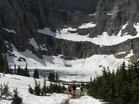 Many Glacier Campground: Iceberg Lake - at the end of the trail