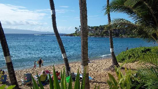 The Napili Bay: View of beach from lanai