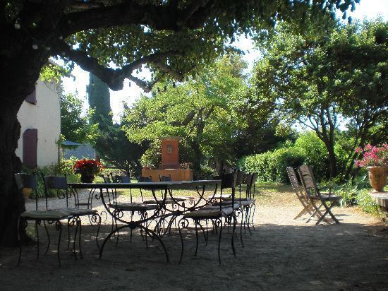 La Tuilière en Luberon : part of the backyard