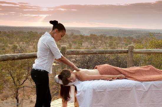 Massage from suite at The Elephant Camp