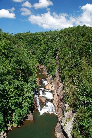 Tallulah Falls, Gürcistan: view from the first overlook
