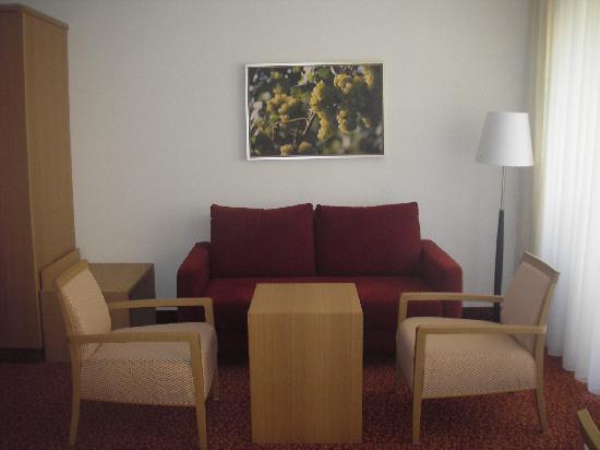 Romantik Hotel Zur Schwane: Sitzecke in unserem Zimmer