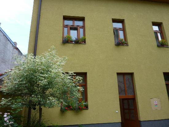 Penzion Hradbova : My room from the outside, first floor, window on the left