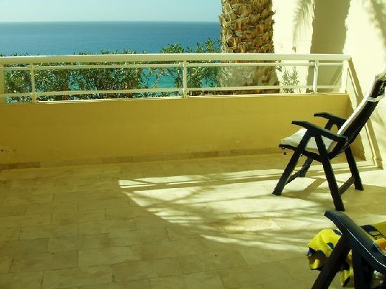 Hotel Riu Palace Jandia : große Terrasse
