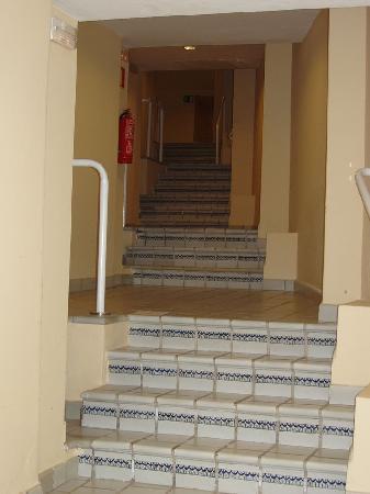 Hotel Riu Palace Jandia : viele Stufen zu den Zimmern in Block D