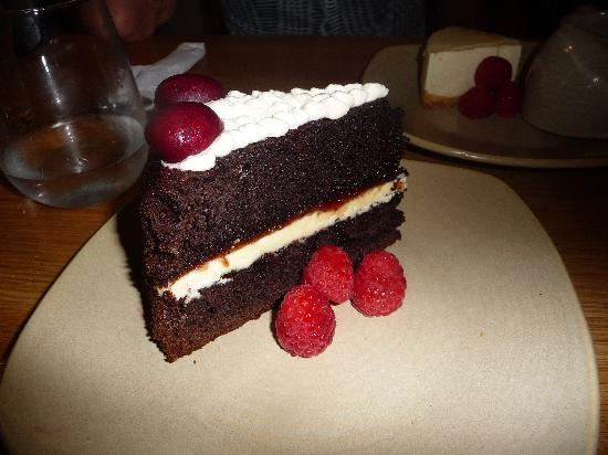 The Devonshire Arms at Pilsley - Restaurant: Black Forrest Gateaux