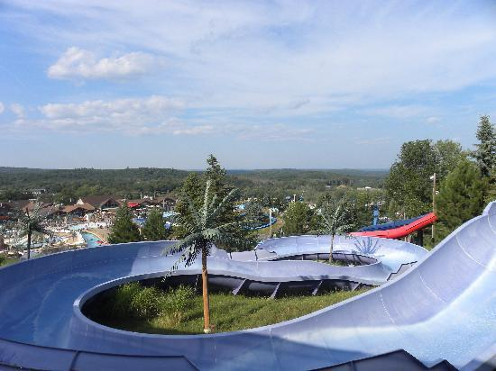 Tannersville, Пенсильвания: View from the top of the family slide