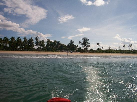 Pigeon Island Beach Resort: The hotel from the sea