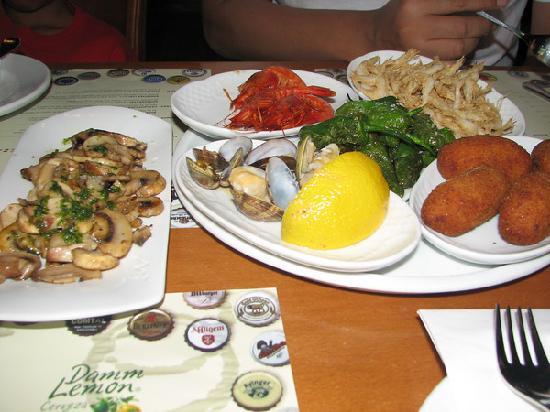 Ciudad Condal Restaurant: Assorted Tapas at Ciudad Condal