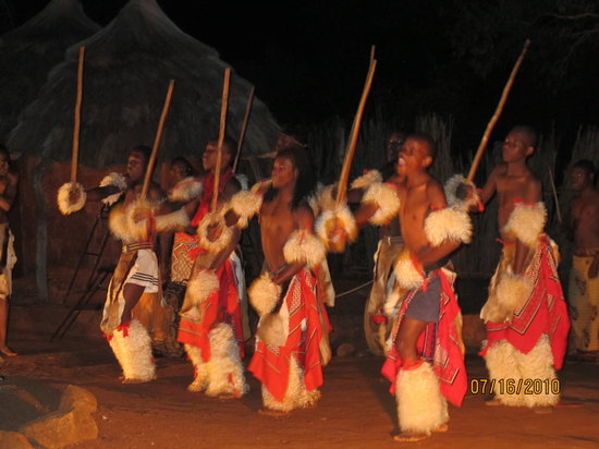 Hazyview, Afrika Selatan: tribal dance