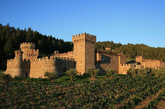 Calistoga, Kalifornia: The Castello in the Morning Sun