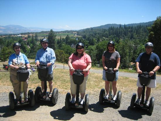 Segway of Jacksonville : Overlooking the valley from the Jaclsonville Cemetery.