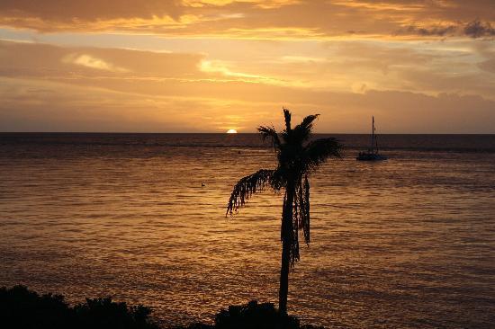 South Seas Island Resort : Sunset from Bedroom balcony