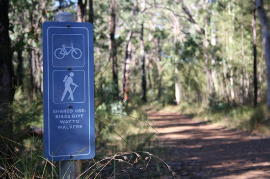 Glenbrook, Australia: Shared use of the trails