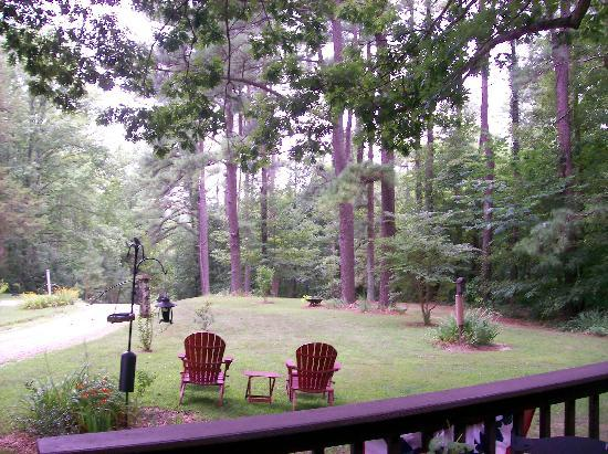 Shawnee Hill Bed and Breakfast : view off deck