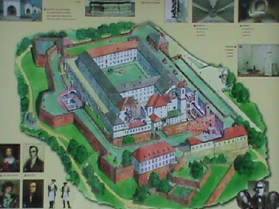 Brno, Czech Republic: The map of the castle