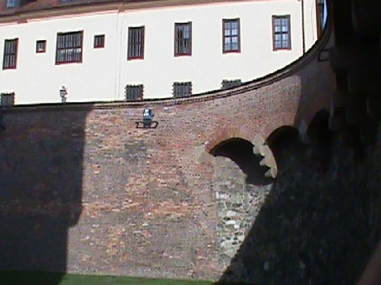Spilberk Castle: The wall in the fortress