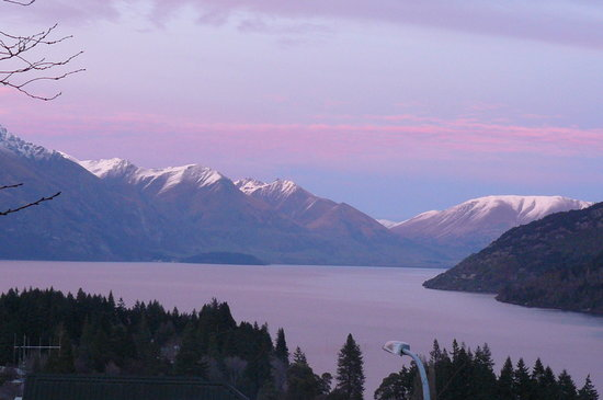 Balmoral Lodge: View from bedroom window at sunrise