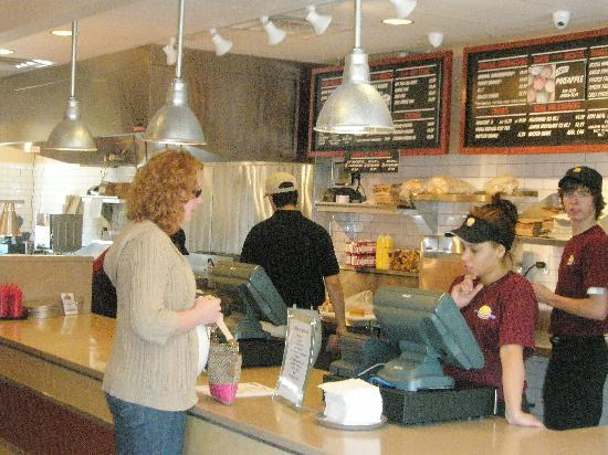 Jake's Hamburgers: Placing order