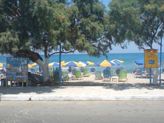 Tsalos Beach: view from front of apts on to beach