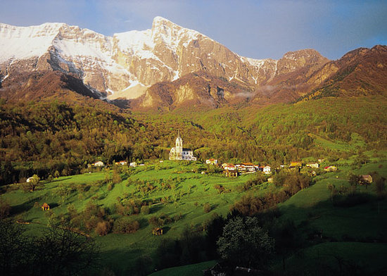 Kobarid (Caporetto), Slovenia: Location