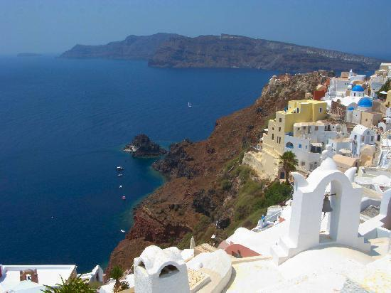 Santorini, Greece: Traditional Village near Perissa