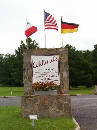 Eckard's Sign on VA Rte. 3 (Greys Point Rd.)