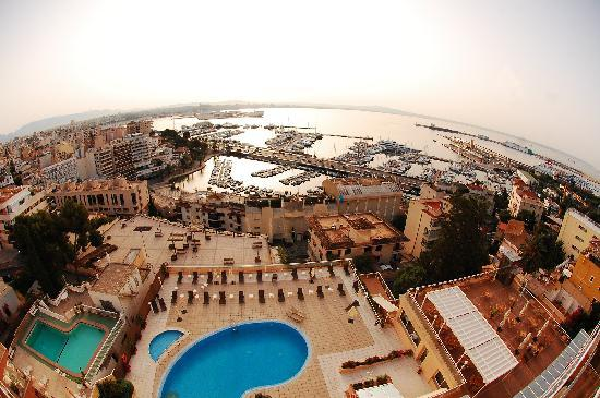Catalonia Majorica Hotel: Your view of the harbour Palma