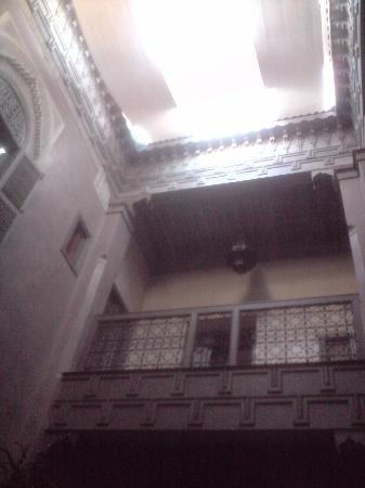 Riad Dar One: view from ground floor