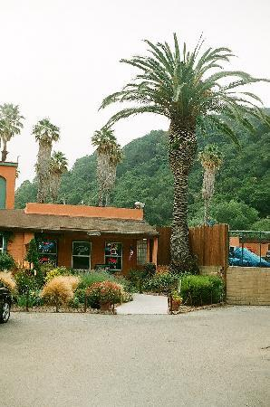 Avila Hot Springs Resort office at entrance