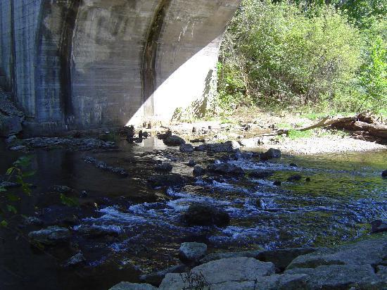 Richard E Klatt Memorial Field: Under Arch- Big Rock Creek